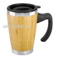 Mug Bamboo Asa Plástica